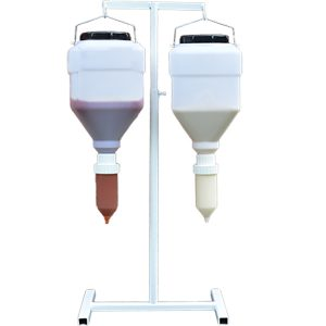 metal table stand for hanging sauce dispensers