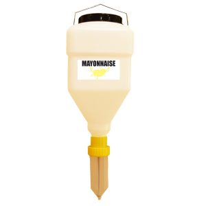 ultimate hanging liquid sauce dispenser for mayonnaise
