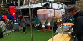 ultimate sauce dispensers at the Oval Cricket Ground London