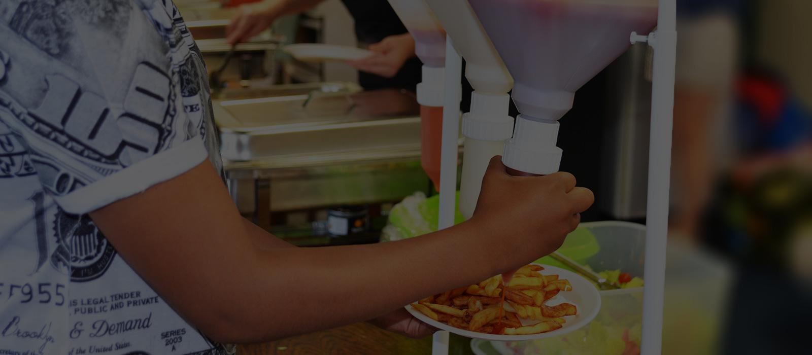 sauce-dispensing dispenser