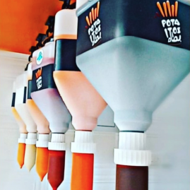 hanging sauce dispensers in Oman